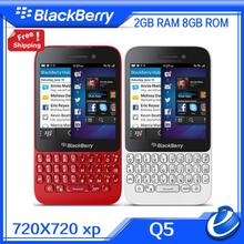 Original Blackberry Q5 3G 4G MobilePhone 5.0MP Dual-core 2GB RAM 8GB ROM Unlocked Blackberry Cellphone refurbished