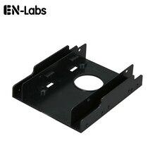 """En-labs Новый 2.5 """"SSD HDD док-станцию к 3.5"""" жёсткий диск Bay пластиковые монтажный комплект адаптер, кронштейн конвертер для ПК держатель-1 шт.(China)"""
