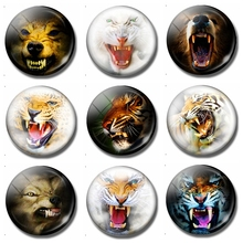 Scary Tiger 30MM Fridge Magnet Fierce Tiger Horrible Animal Glass Cabochon Magnetic Refrigerator Stickers Note Holder Home Decor(China)