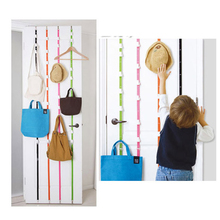 Home Storage Hooks Hat Clothes Organizer Hanging Cap Rack Holder Over Door Straps With 16 Hook for Room Organize Space Saving