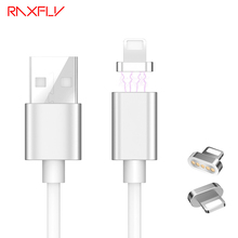 RAXFLY Magnetic Cable For iPhone 5 6 6 Plus 7 7 Plus Original Charger Data Sync For iPad Mini Phone Cables Magnet Charge Wire