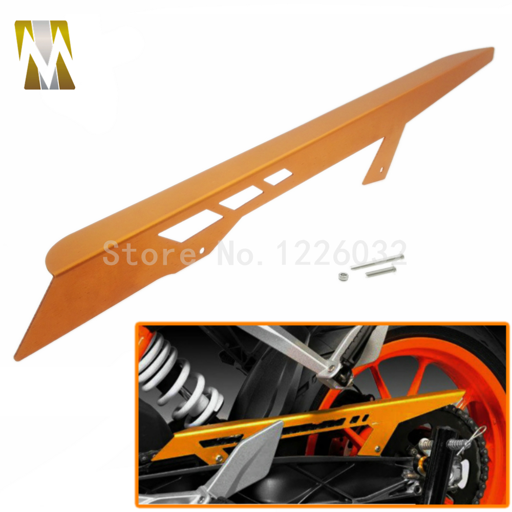 Orange Aluminum Motorcycle Chain Guard Cover for KTM Duke 125 2011-2016 200 2012-2016 390 2013-2016 RC125 RC 200 2014 - 2016  <br>