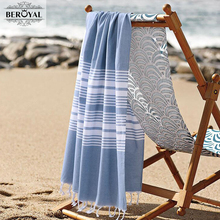 New 2017 Turkish Towel - 100% Cotton Bath Towels For Adult Super Soft Beach Towel Quick Dry Towel Muslin Blanket Brand 75*140cm(China)