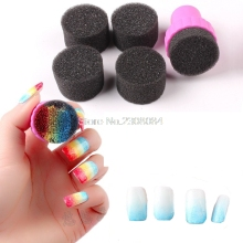 6 Pieces/Lot Nail Art Painting Sponge Nails Equipment Simple DIY Change Color Sponge Creative Nail Polish Stickers Decals(China)