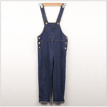 Toddler Children Enfant Kids Girls Jeans Casual Denim Bib Pants Dungarees Overalls Trousers Baby Girl Clothes