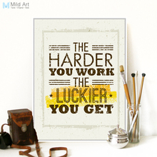 Vintage Retro Motivational Typography Work Quotes A4 Canvas Art Print Poster Wall Picture Office Decoration Painting No Frame(China)
