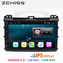 Free Shipping Android 6.0 32GB ROM 2GB RAM Car GPS For TOYOTA Land Cruiser Prado 120 IPS PANEL TPMS DAB DVR option