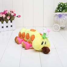 27cm Super Mario Bros Plush toys Caterpillar Wiggler Marghibruco Stuffed toys Doll plush pendant keychain(China)