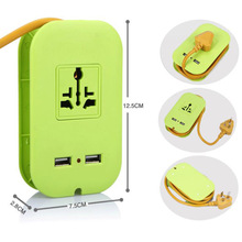 High-end fast charge 1AC international socket 2USB power supply adapter extension cable EU / US / UK plug socket(China)
