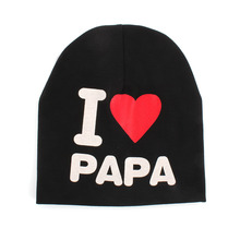 Unisex Cotton Baby Hat Cap Boy Girl Infant Soft Letter Pattern Fitted Beanie Caps For Toddler Children
