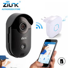 ZILNK 720P Video Intercom WiFi Doorbell Camera CCTV Surveillance Nightvision Video Doorphone Indoor Chime Built-in SD Card Black