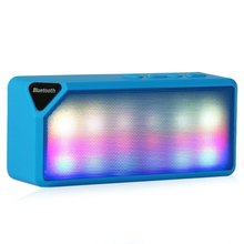 X3S Multi-Color Flash LED Light Wireless Bluetooth 2.0 Speaker with Built-in Speakerphone Rechargeable Battery