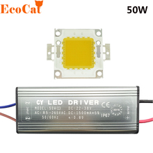 1Set 10W 20W 30W 50W High Power COB LED lamp Chips Bulb with LED Driver 85-285v For DIY Floodlight Spot light Lawn light