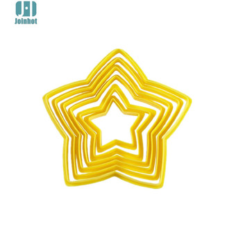6pcs/set Star Shaped plastic Cake mold cookie cutter  biscuit stamp fondant cake decorating tools