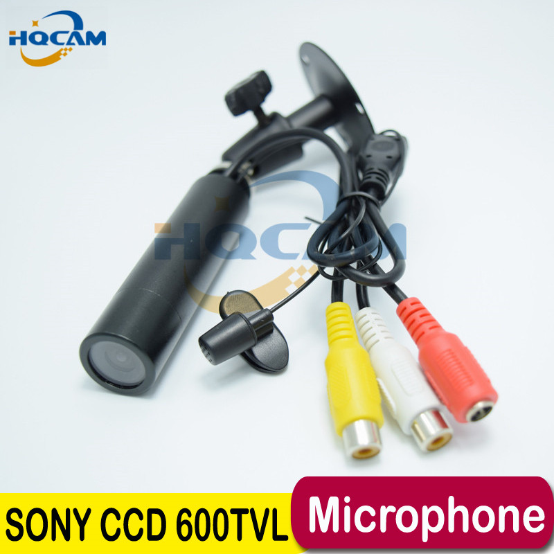 HQCAM Audio Sony CCD 600TVL Support microphone Best Price Micro Video Surveillance Small Mini Bullet camera Security CCTV Camera<br>
