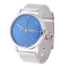 Woman Stainless Steel Mesh Strap Blue Watch Men Diamond Watch for Men Unisex Quartz Watch relogios montre homme