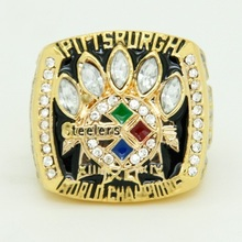 2005 Super Bowl XL Pittsburgh Steelers Championship Ring Men Jewelry American Football Game Replica Champion Ring(China)