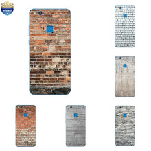 Silicone Phone Case For Huawei P10 Lite Shell for Huawei P10 Plus Back Cover Transparnet for Huawei Nova TPU Brick Pattern