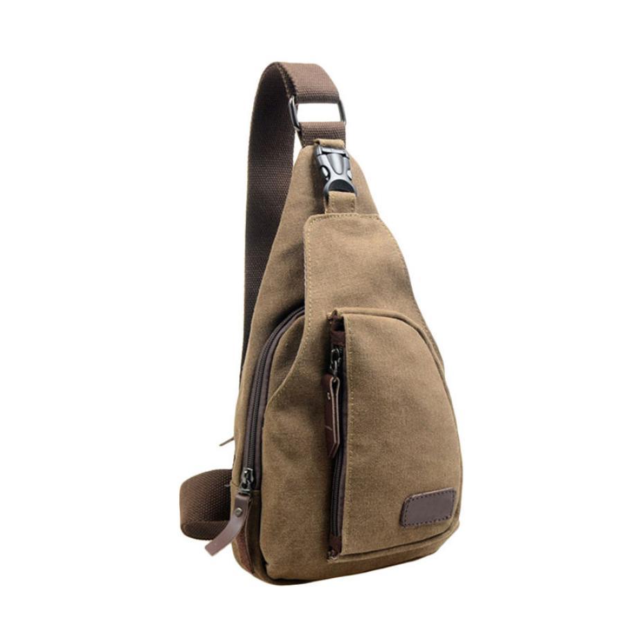 Men Chest Bags Canvas  Men Messenger Bags Shoulder Crossbody  Chest Bag Money Belt Monedero F546 Сумки-мессенджеры