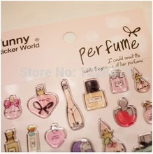 1pcs/lot New funny perfume style 3D sticker deco PVC mobile sticker Sign post Decoration label DIY multifunction