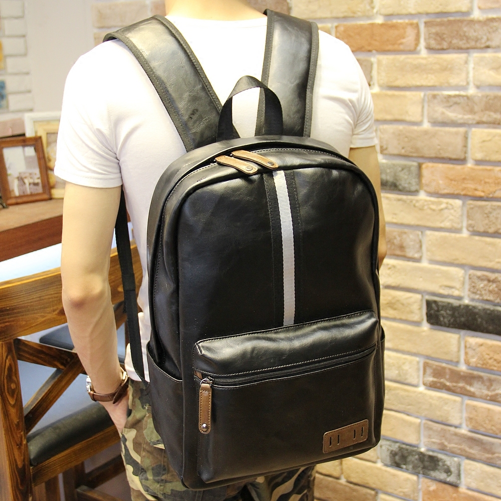 New Designer Men Stylish Backpacks PU Leather School Bags For Teenagers Large Capacity Casual Travel Bags Bolsa Mochila  XP178<br><br>Aliexpress