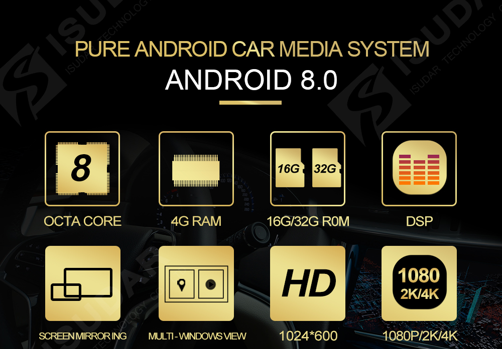 Car Multimedia player Android 8.0 GPS