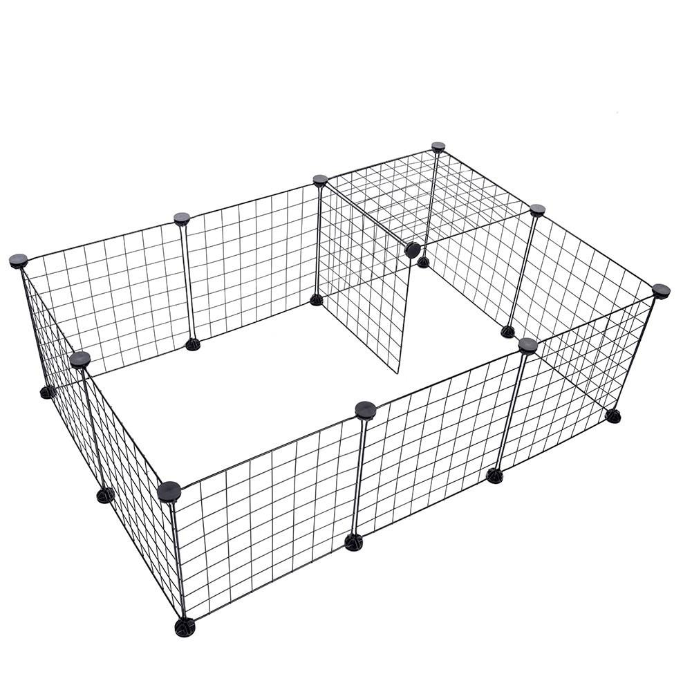 6 шт. 35 см квадратный Бесплатная Комбинации собака металлический Железный Забор Pet Cat щенок Крытый забор двор(China)
