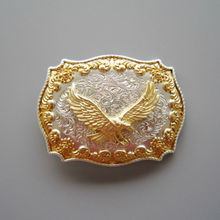 Retail Distribute Jeansfriend Original Double Plated Color Fly Eagle Western Belt Buckle Free Shipping