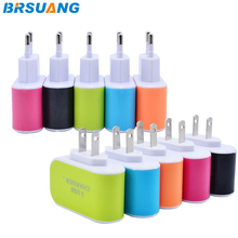 100pcs/lot 3.1A Triple USB Port Travel Home Wall EU USA AC Charger Plug Adapter For Samsung HTC LG Google iPhone 5 5s SE 6s plus(China)