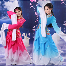 Chinese Classical dance clothes red blue Hanfu ancient costume fairy set long Sleeve costumes Princess Dynasty China Hanfu Dress(China)