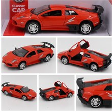 New Arrive 1:36  Metal  Pull Back Sport Car Model Toys For Children Birthday New Year Gift Collection Classic Toys Red Color