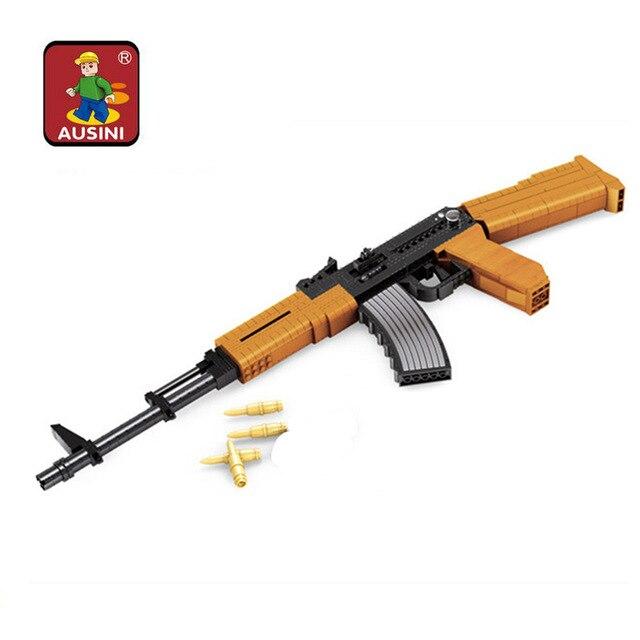 Ausini Military serials Army Pistols Air Gun Enlighten Building Block Set 3D Construction Brick Toys Educational Block toys<br>
