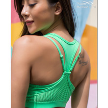 Mermaid Curve Women Sports Bra With Padded Gym Shakeproof Underwear Push Up Bra Yoga Women Dance Aerobics Fitness Top Bras
