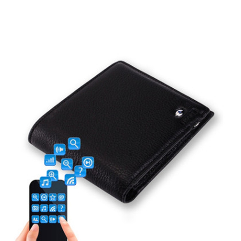 2017 New Genuine Leather Short Smart Wallet Bluetooth Connected with Phone IOS Andriod APP Available Anti Lost Selfie Purse<br>