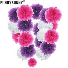pompon Tissue Paper Pom Poms Flower Balls for wedding room Decoration Party Supplies diy craft paper flower(China)