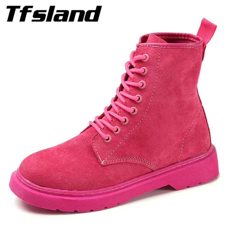 Luxury Women Sexy Flats Suede Leather Martin Boots British Student Soft Leisure Single Shoes Lace Walking Shoes Sneakers Gift