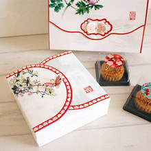 Free shipping Chinese style small bakery package cake dessert cookie packing boxes gift wrap boxes supply favors