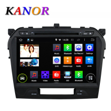 KANOR 10.1inch Android Quad Core Car DVD Player For Suzuki 2015 Grand Vitara 1024*600 GPS Navigation Car Audio Multimedia WIFI