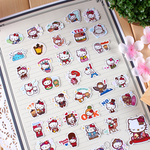 40pcs Creative Cute Self-made hello kitty travel world scrapbooking stickers decorative sticker /DIY craft photo albums