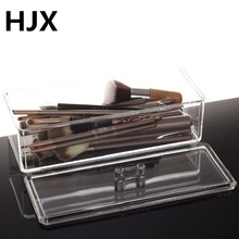 Hot Clear Acrylic Makeup storage box Cosmetic brush Nail Polish Lipstick Eyeliner storage Makeup Organizer Jewelry Storage Case(China)