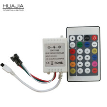 1x 24Key DC5-24V IR Remote Controller WS2812B Contoller WS2812 200 Change Max 1-512 Pixels LED Controller Pixel Controller