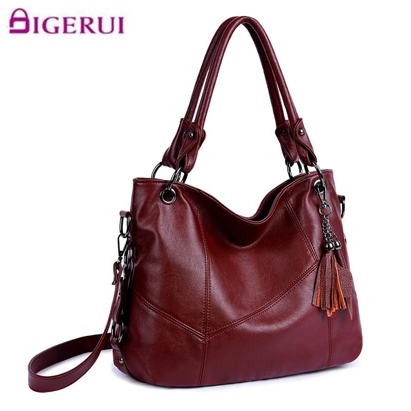 Women Leather Handbags Women Messenger Bags Designer Crossbody Bags Women Bolsa Top-handle Bags Tote Shoulder Bag A120<br>