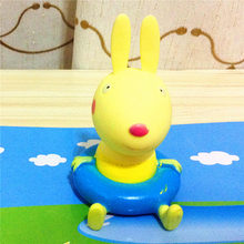 5 pcs/lot children Water Spraying Tool toy Children's toys infant beach waterbaby rabbit bear pig cat duck swimming ring