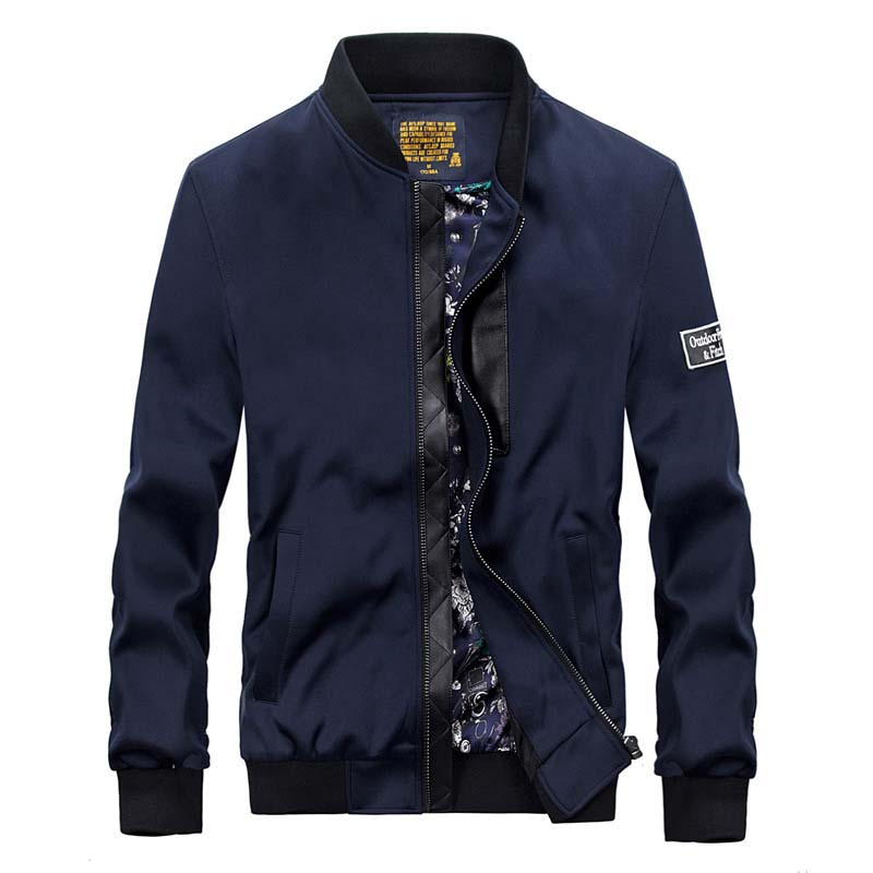 New Men's Jackets Spring And Autumn Casual Coats Stand Collar Bomber Baseball Jacket Brand Clothing