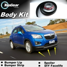 Bumper Lip Deflector Lips For Holden Trax 2013~Onwork Front Spoiler Skirt For TopGear Fans to Car Tuning View / Body Kit / Strip(China)
