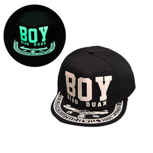 Eye/WOLF/NY/BOY Letter Printing Fashion Fluorescence Hip-hop Unisex Baseball Cap(China)