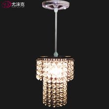 Free Shipping Modern Design Modern Crystal Shade Single Light Lustres E Pendentes Fixtures Lighting Dia14cm Crystal Pendant