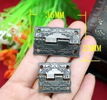 Fast Shipping 1.5-inch alloy hinge antique wooden stamp hinge 36 * 23MM Box Hinge