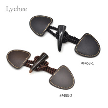 Lychee Jacket Leather Ox Horn Buttons Multicolor Toggle Button New Arrival Vintage Retro Buttons(China)