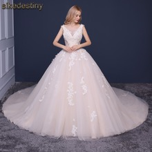 vestido de noiva Custom Made Wedding Dresses Elegent High-end Beautiful Lace Ball Gown Lace Bridal Dresses Wedding Gowns